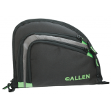 Allen Auto-Fit 2-Pocket Handgun Case Measures 9.5x7.25 Inches Black/Gray/Hot Green 7731A