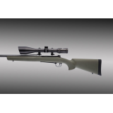Win. M.70 Short Action Heavy/Varmint Barrel Pillarbed stock OD Green 07210 by Hogue
