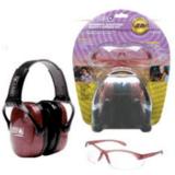 Woman's Shooting Combo Kit - dusty rose earmuff, clear anti-fog Eyewear, R-01727 by Howard Leight