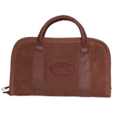 Outdoor Connection Superior Rectangular Pistol Case Suede Leather w/Handle Brown 14 in.