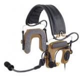 Peltor ComTac IV Hybrid Communication Headset,Single Comm,Flexi Boom Mic
