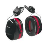 Optime 105 Black/Red Double Shell Earmuff by Peltor