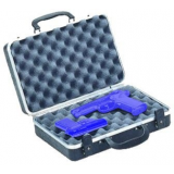 Plano Moulding  10402 Black Two Pistol Case w/Two Key Locks