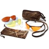 Rendezvous Ducks Unlimited Shooting Glasses - Black Frame, Amber, Sun Block Bronze, Infinity Blue, and Clear Lenses DUCLAM1 by Pyramex