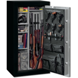 Stack-On 22 Total Defense Gun Safe w/ Door Storage, Medium, Matte Black/Silver