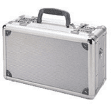 TZ Cases TZ0015SS Pro Tech Series Duelly Fifteen Pistol Case, 15x9x7, Silver